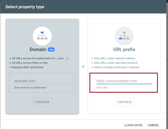 Verify domain ownership in Google Search Console via HTML file