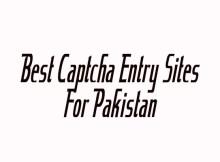 Captcha Entry Sites for Pakistan