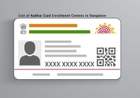 List of Aadhar Card Enrollment Centers in Bangalore
