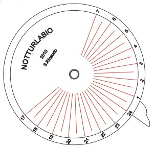 Disco orario con ore notturne - Centro Osservazione e Divulgazione Astronomica - Siracusa