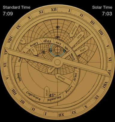 Calcolo dell'alba del 1 Novembre su un astrolabio piano
