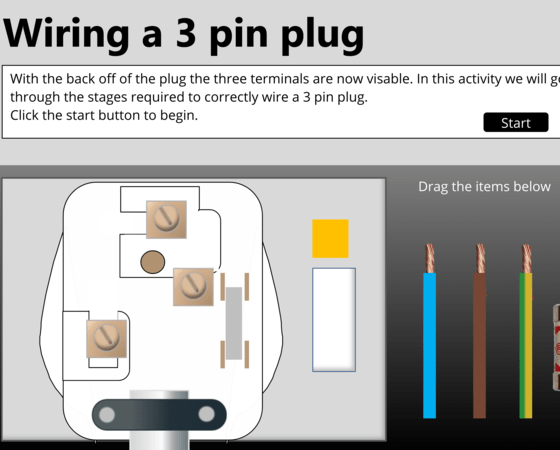 wiring a 3 pin plug  elearning examples  elearning heroes