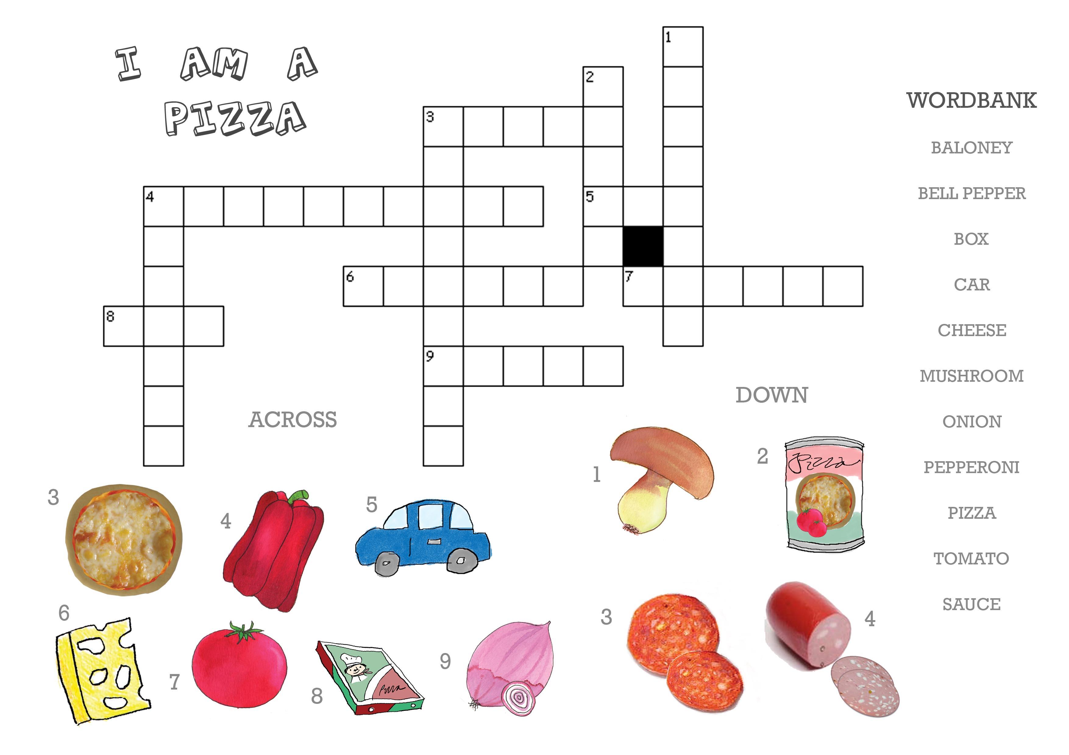 Food Word Game Word Scramble Worksheet