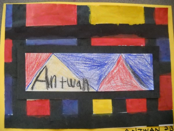 Mondrian Names . Auvermann' Art Class