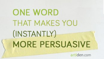 How to be More Persuasive with One Word