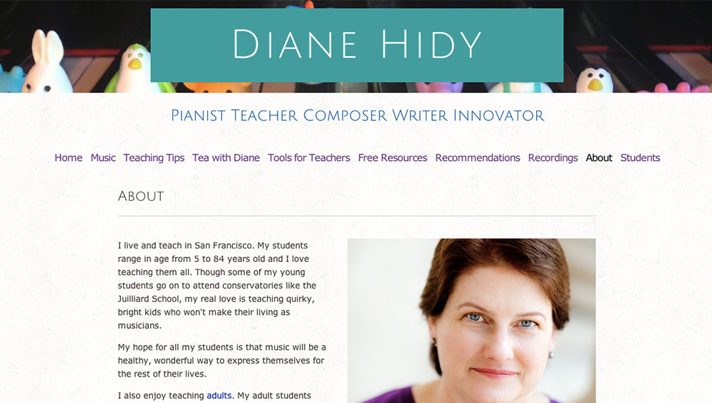 Diane Hidy's Website: 3 Non-Sketchy Ways to Get Music Students Through Your Website