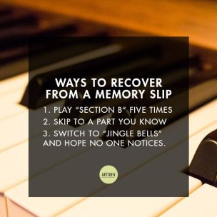 Ways to recover from a memory slip