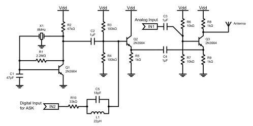 small resolution of circuit diagram of the transmitter