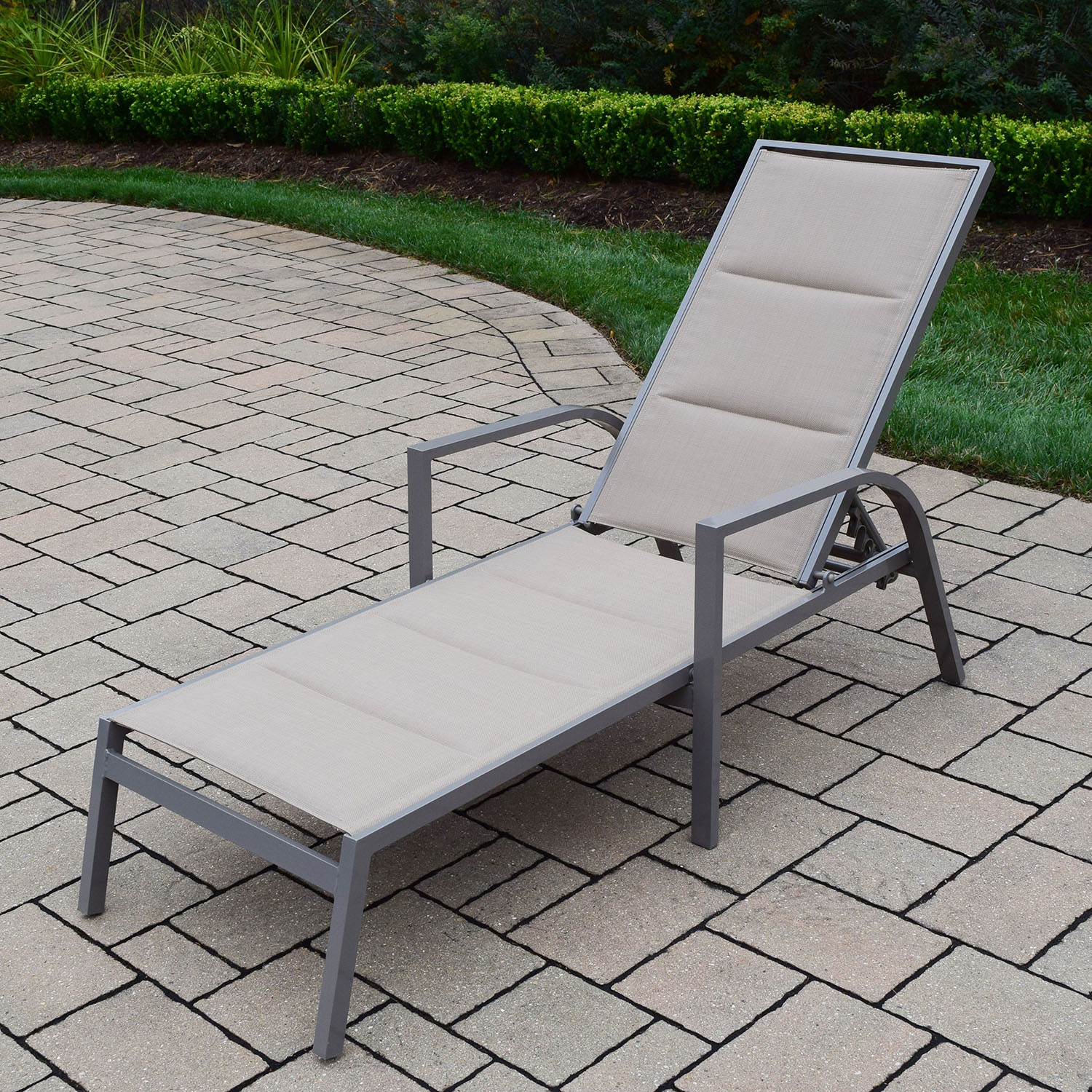 Sling Chaise Lounge Chair Oakland Living Padded Sling Aluminum Chaise Lounge Chair