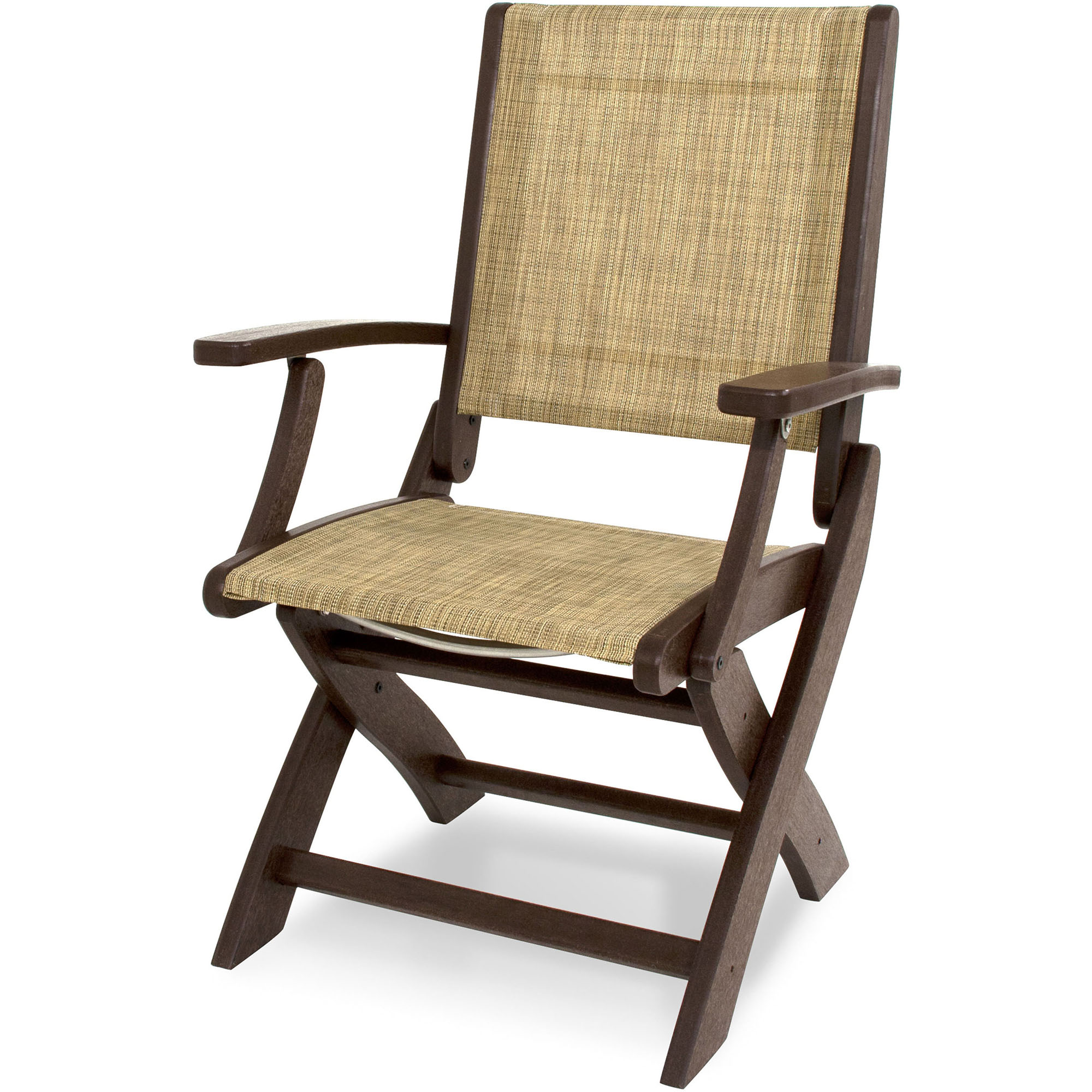 Burlap Dining Chairs Polywood Coastal Dining Chair In Mahogany With Burlap