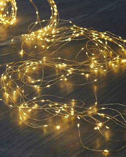 Guirlande KNIRKE 15x045 15M 200 LEDS GOLD INDOOR 1