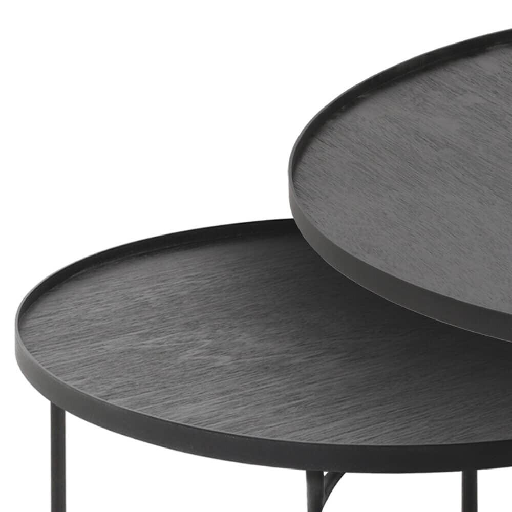 Set de tables basses pour plateaux ronds L/XL