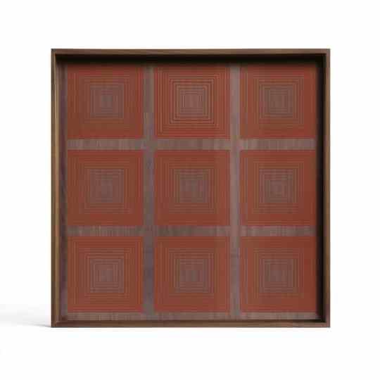 Plateau en verre carrés de potiron - carré S