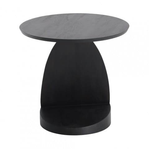TABLE D'APPOINT OBLIC EN TECK Noir