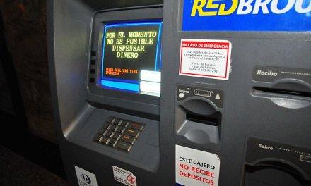 Cajeros automáticos sin dinero