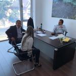 INTENDENTE PABLO CARAM Y DIPUTADA VALENTINA DOS SANTOS SE REUNIERON CON EL PRESIDENTE ELECTO LUIS LACALLE POU