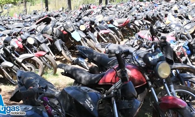 MÁS DE 500 MOTOS INCAUTADAS POR TRÁNSITO FUERON TRASLADADAS A CHACRA MUNICIPAL.