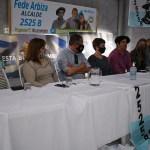 TOMÁS GOMENSORO:  FEDERICO ARBIZA PRESENTÓ A LA ESCRIBANA ALEJANDRA PAZ DURANTE EL LANZAMIENTO DE SU CANDIDATURA.