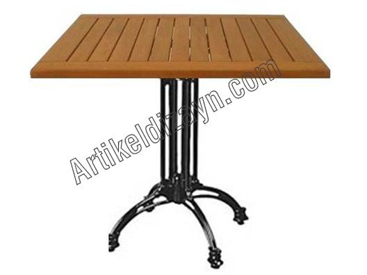 Döküm ayaklı ahşap masa
