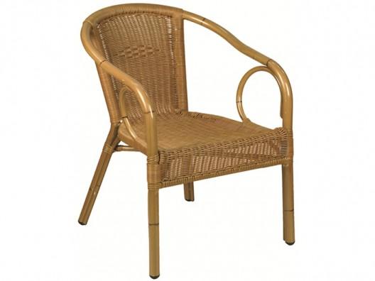Rattan kollu sandalye