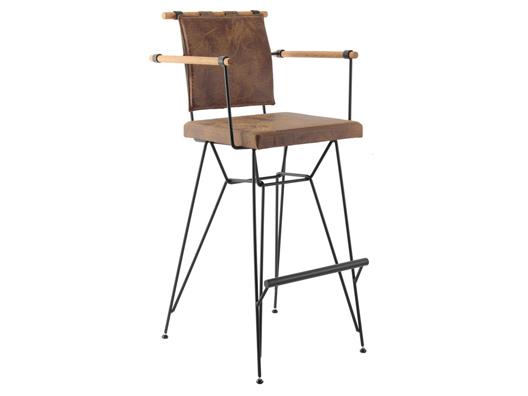 Tel bar sandalyesi