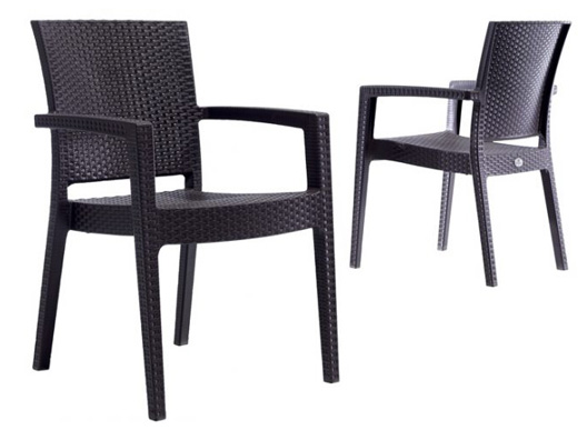 Rattan efektli PVC sandalye