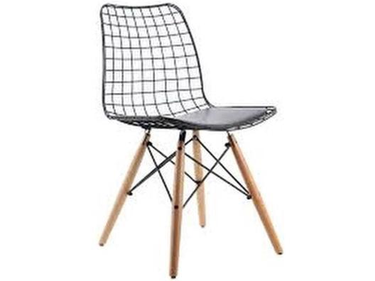 Ahşap Ayaklı Tel Sandalye