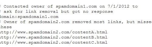 file teks disavow
