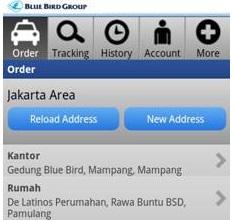 home aplikasi pesan taxi