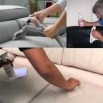 Membersihkan Sofa di Rumah