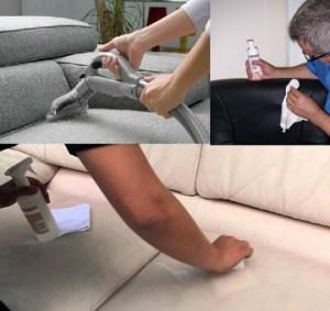 membersihkan sofa