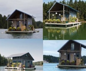 Floating House di Perry Creek, Maine