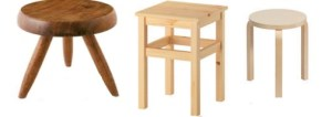 bangku kayu stool