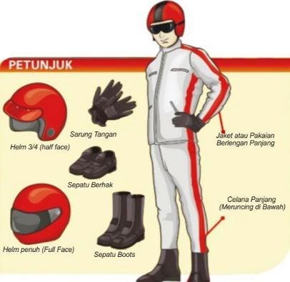 Jangan Lupa Pakai Kelengkapan Safety Riding Saat Berkendara!