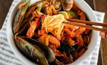 Jjamppong mie seafood