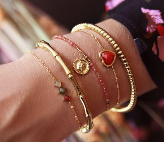 armbanden-goud-hart-rood-stenen