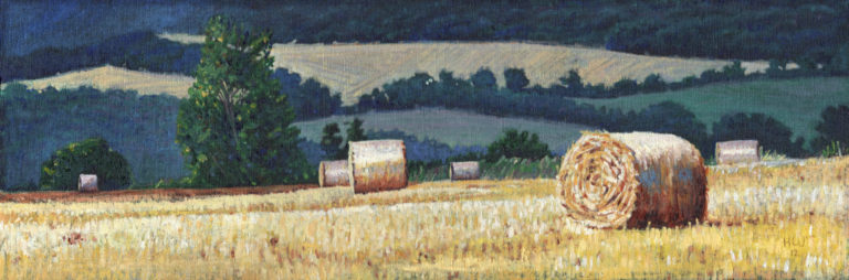 Bales on a Hillside