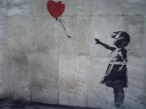 Banksy's Balloon Girl Painting
