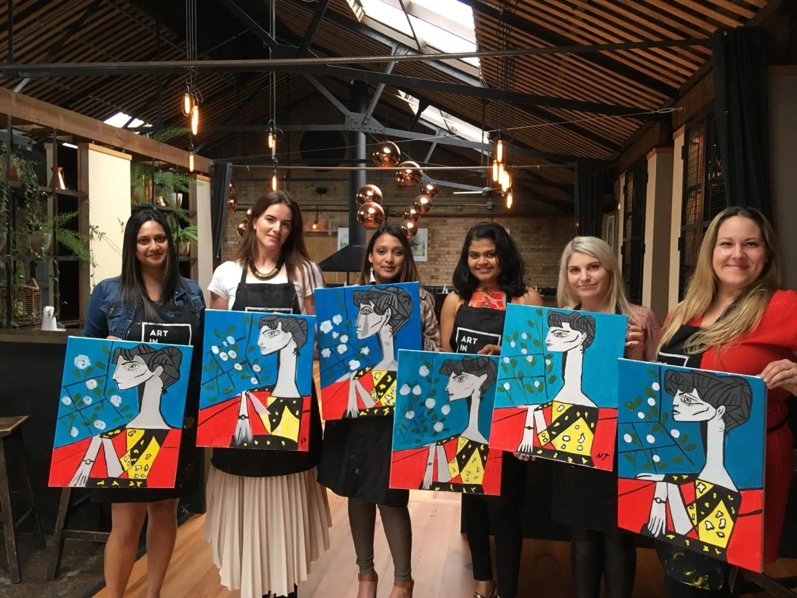 hen's night wine and paint party
