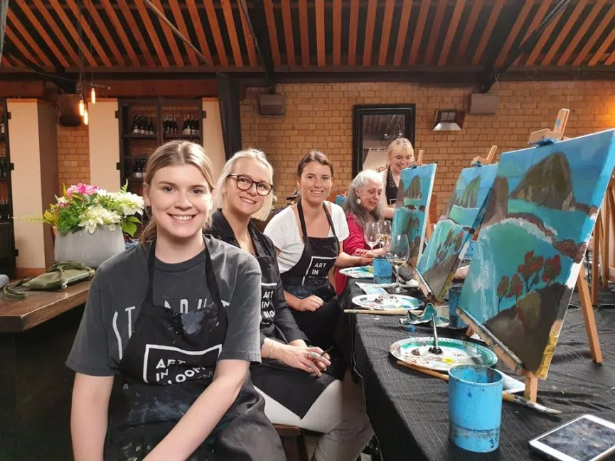 learn to paint Auckland Art in Bloom