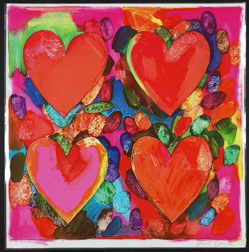 Four Hearts 1969 by Jim Dine born 1935