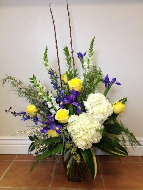 Roses, Irises and Hydrangeas