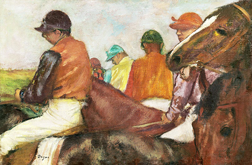 Painting of horse racers by Degas