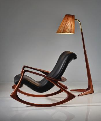 vladimir kagan rocking chair chairs crate and barrel model no 175f by blouin art sales index
