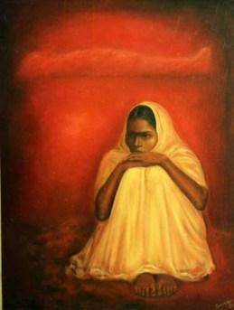 Balwinder Tanwar Untitled 36x48 Oil on Canvas 1994 SOLD