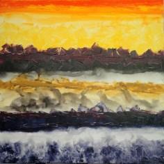 Mukesh Kumar Fantasy Landscape 8 Acrylic on Canvas 42 x 42 Inches