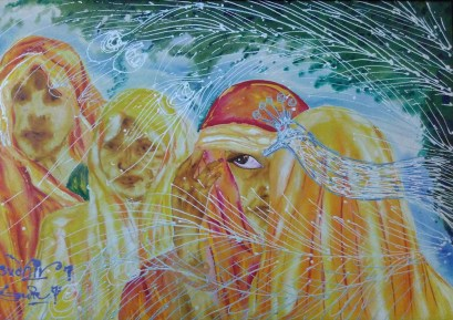 Sudhir Tripurari Beauty of Love Acrylic on Canvas 24x36 Inches 20K
