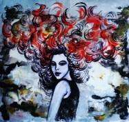 Pankaj Kumar Saxena Fervor-Dalliance-with-Snow Acrylic on Canvas 56X54 cms