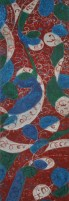 Shalini Goyal Abstract Panel Water Colour and Sparkle 18x36 Inch Rs 1999