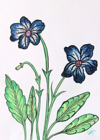 Shalini Goyal Floral-11 Water Colour on Hand Made Paper 14x12 Inch Rs 1250